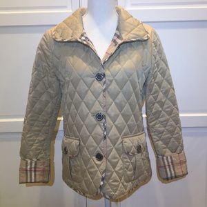 Burberry Brit Women's Quilted button up coat sizeM